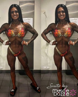 Burnt Orange Figure Competition Suit