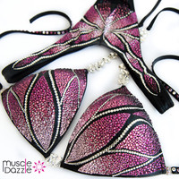 Pink and Purple Figure Competition Suit