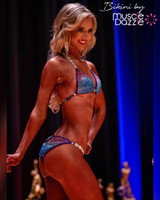Purple and Blue Bikini Competition Suit