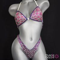 Purple Figure Competition Suit (FS293)