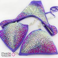 Purple Ombre Figure Competition Suit