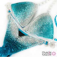 Blue Ombre Competition Bikini