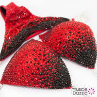 Red and Black Competition Bikini