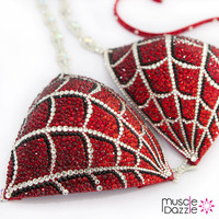 Red Spiderman Crystal Competition Bikini