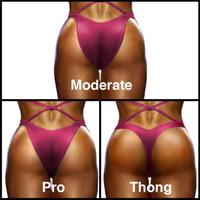 Muscle Dazzle bikini back styles