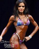 Purple/Blue Fitness Competition Bikini (CB292)