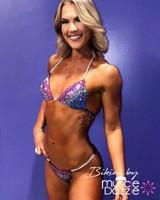Purple/Blue Fitness Competition Bikini