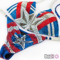 Captain America Crystal Competition Bikini