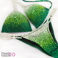 Green Bikini Competition Suit