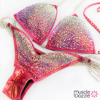 Pink Copper Competition Bikini