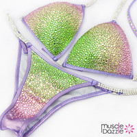 Ombre Crystal Competition Bikini