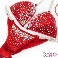 Red Competition Bikini Suit
