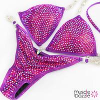 Magenta Bikini Competition Suit