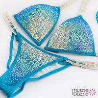 Blue Crystal Competition Bikini