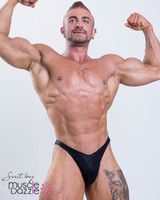 Black Bodybuilding Posing Trunks (wet look)