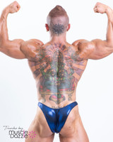 Blue Bodybuilding Posing Trunks