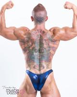 Blue Bodybuilding Posing Trunks