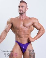 Dark Purple Bodybuilding Posing Trunks