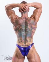 Dark Purple Bodybuilding Posing Trunks