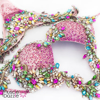 Pink diva couture crystal competition bikini