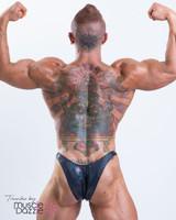 Grey Hologram Bodybuilding Posing Trunks