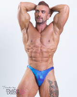 Blue-Purple Bodybuilding Posing Trunks