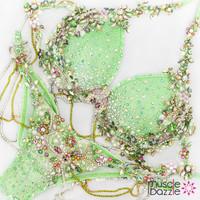 Light green diva model bikini