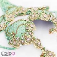 Mint Green Diva Competition Bikini