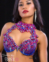 Purple theme wear WBFF diva competition bikini