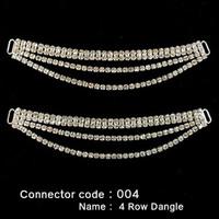 Set of 2 x Bikini Connectors -  4 Row Dangle Style (004)