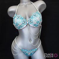 Light Blue WBFF Competition Bikini
