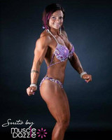 Purple figure competition posing suit