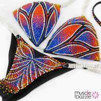 Crystal bikini competition suit