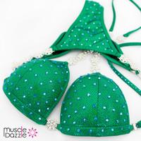 Affordable green competition bikini