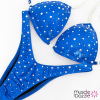 Affordable royal blue figure competition suit