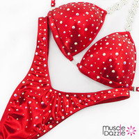 Ready Made Affordable red figure competition suit (FS515RM)