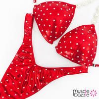 Affordable red figure competition suit