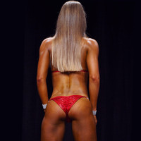 Red Hologram Competition Bikini