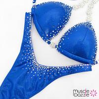 Affordable royal blue figure competition suit
