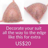 Decorate your suit all the way to the edge like this for extra US$20