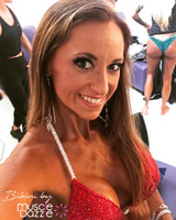 Red crystal bikini competition suit