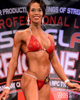 Red crystal bikini competition suit (CB433)