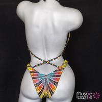 Rainbow figure competition suit