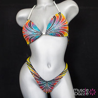 Rainbow figure competition suit