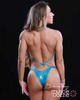 Affordable aqua blue figure competition suit (FS536)