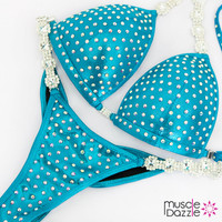 Affordable aqua competition bikini