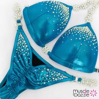 Affordable blue competition bikini