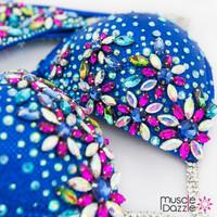 Royal blue bikini competition suit
