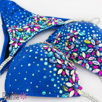 Royal blue bikini competition suit