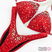 Red figure competition suit